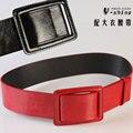 Breve abrigo cummerbund ancho cinturón femenino de la correa decoración de la correa ajustable negro rojo p303