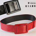 Brief overcoat belt female black adjustable strap decoration red wide belt cummerbund p303
