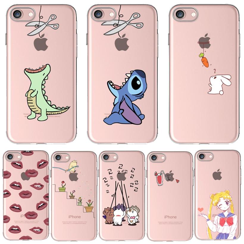 Толстый мягкий силиконовый чехол для телефона 6 S Чехол для Apple iPhone 8 7 Plus Чехлы iPhone8 X чехол с рисунком кролик любовь редьки падающие цветы