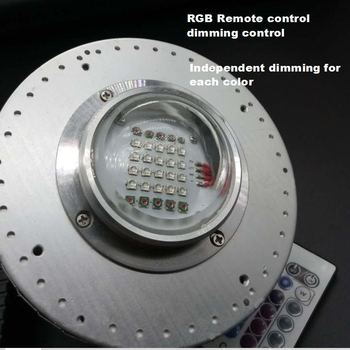 Custom color Remote dimming 50W CREE LED Grow Light for Plants Hydroponics Aquarium marine lamp for Coral Reefs Fish