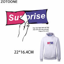 ZOTOONE Surprise Patch for T-shirt Iron on Transfer Patches Clothing Funny Stickers Heat Applique Decoration Sweatshirt