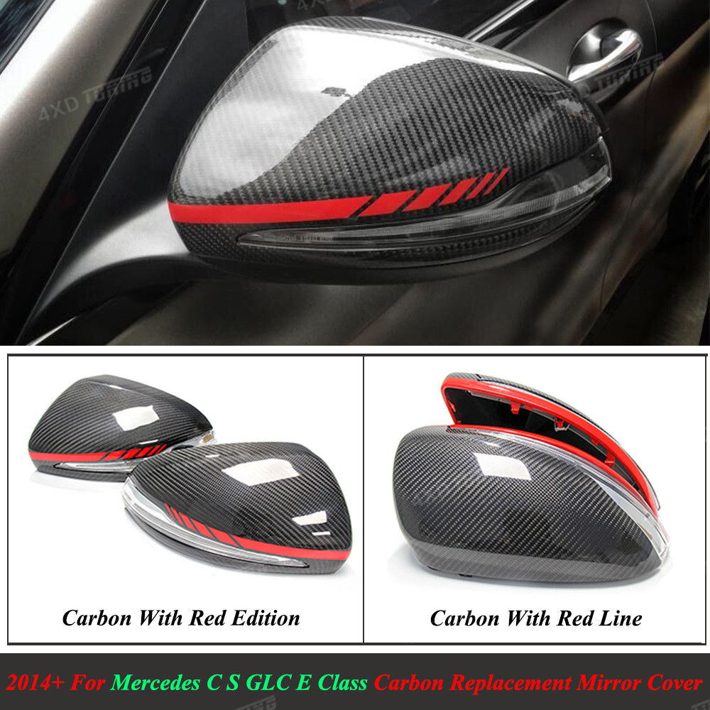 1:1 Replacement Carbon Fiber Mirror cover For Mercedes W205 W222 W213 W238 X205 Benz C S GLC E Class AMG Mirror Cover Only LHD футболка print bar mercedes amg s 63 w222