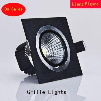 high power aluminum led cob dimmable ceiling light AC110V-230V 7W 12W 16w 20W square cob led downlight