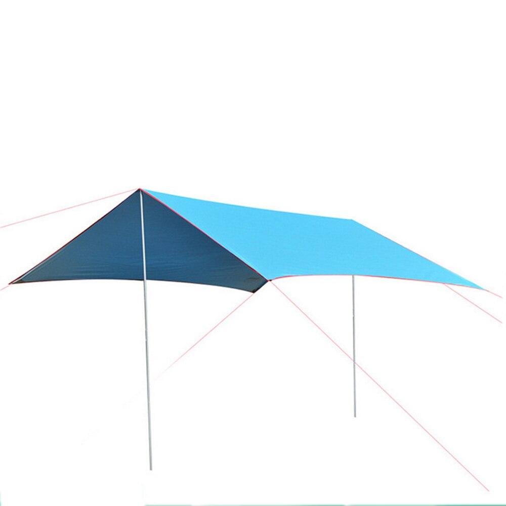 3 m x 2.9 m plage abri soleil bâche imperméable tente ombre ultra-léger UV auvent de jardin auvent parasol extérieur Camping revêtement Pergola