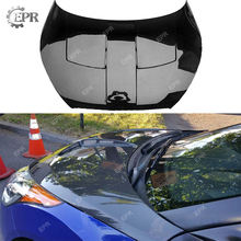 Carbon Vented Hood For Hyundai Veloster (Type 2) Carbon Fiber Hood(164x140x18cm) Body Kits Tuning Trim Accessories For Veloster for hyundai veloster carbon fiber gear surround stick on type in stock