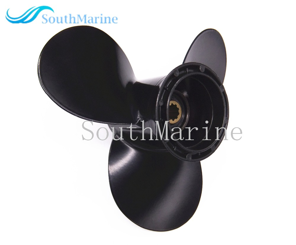 9 1/4x8 Boat Engine Aluminum Propeller for Suzuki 9.9HP 15HP Outboard Motor 9 1/4 x 8 electric outboard engine fishing boat propeller with outboard engine 12v 684w1750 rotationl speed dc motor