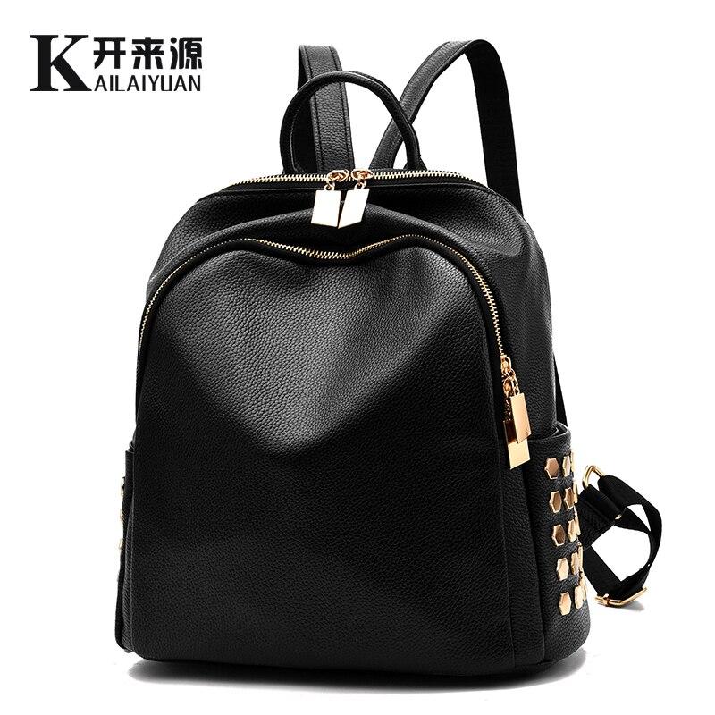 KLY 100% Véritable cuir Femmes sac à dos 2018 Nouveau Sac À Dos printemps et d'été nouveaux étudiants grande taille Coréenne femmes sac