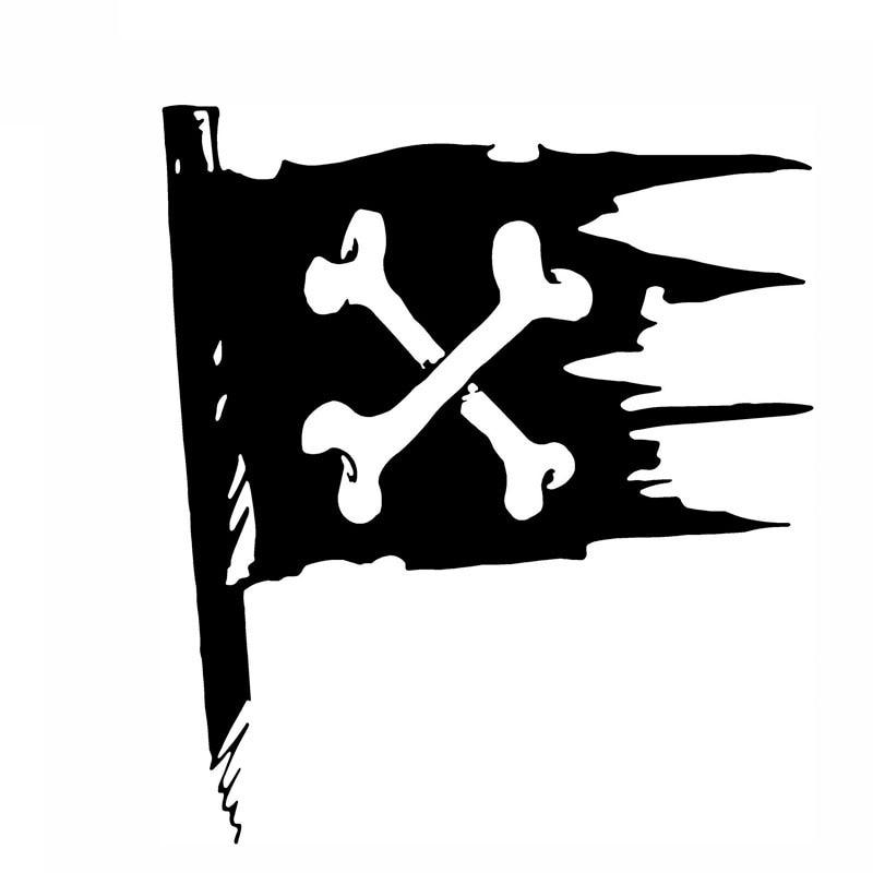 11*12.5 Cm For Pirata Bandera De Dibujos Animados DiversioN Coche Personalizado Etiquetas De Coche