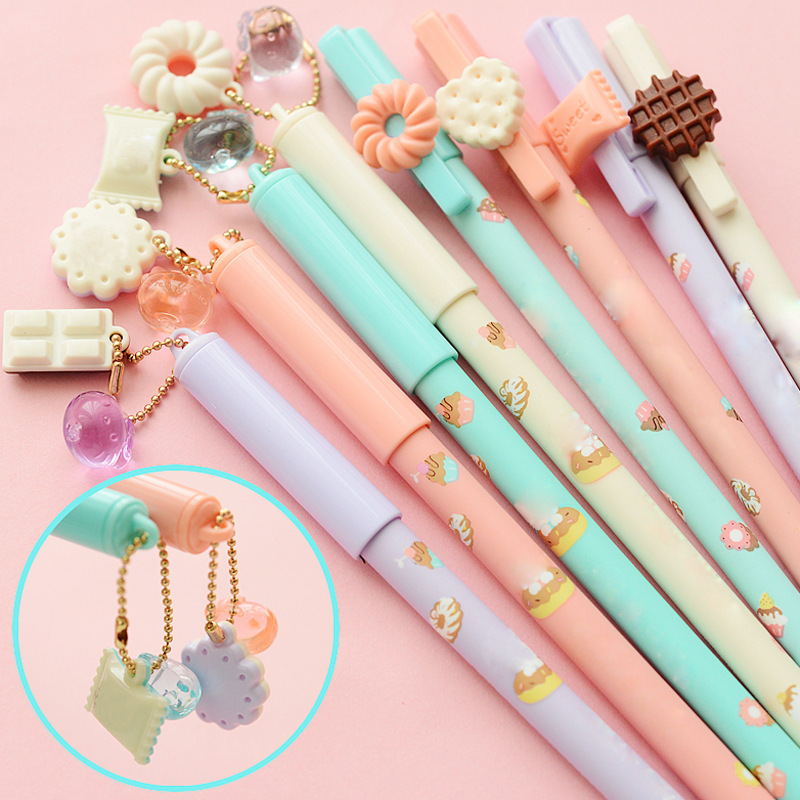 4 Pcs/lot Cute Kitty Gel Pen Black Ink Pens for writin Kawaii Canetas escolar papelaria Cute Stationery gift School Supplies 6 pcs set color gel pen starry pattern cute kitty hero roller ball pens stationery office school supplies
