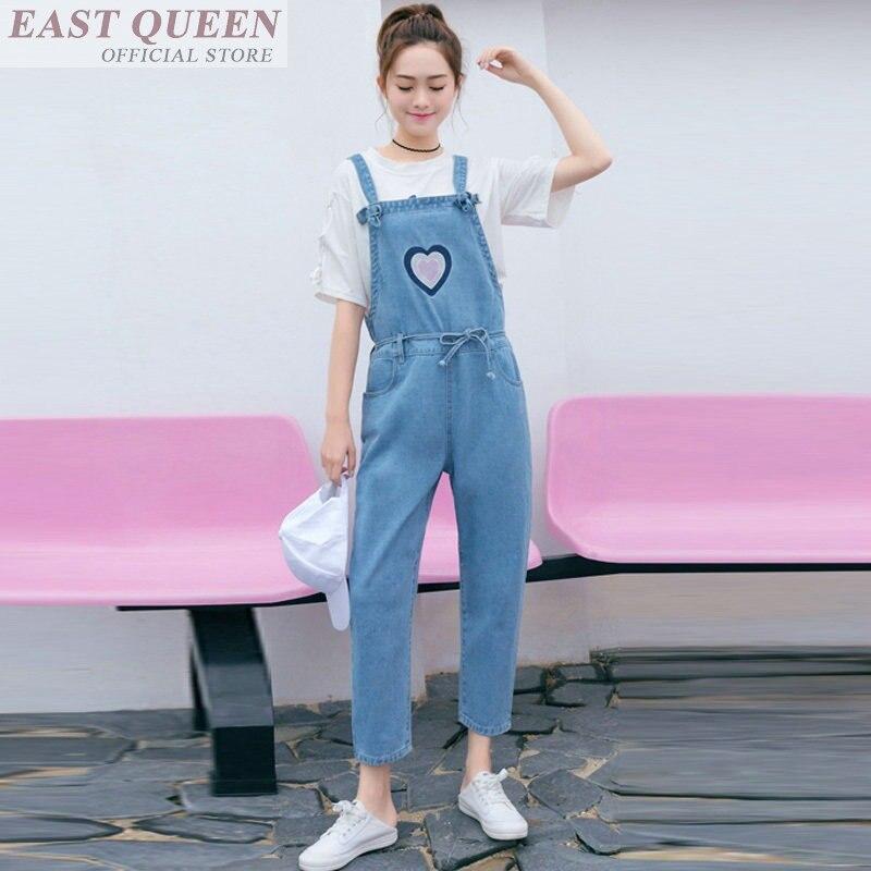 Denim overalls for women kawaii clothing korean streetwear harajuku denim   jumpsuit   female DD554