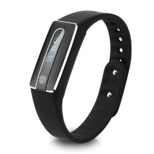 Good Bracelet Wristband HB02 Bluetooth Coronary heart Charge Good Band Health Tracker with Contact Screenn for IOS Android Smartphone