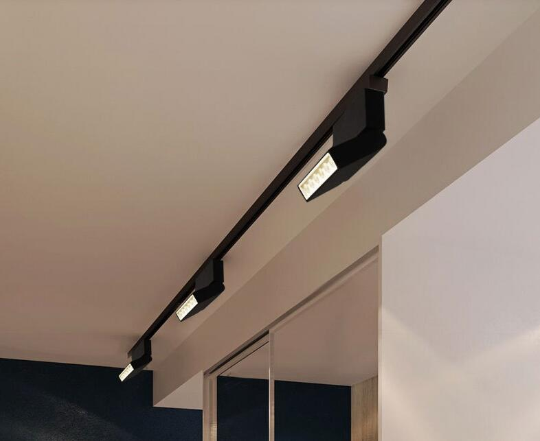 1 Piece One Row 3 Wires LED Track Light 6W 12W COB Rail Spotlight Lamp Led Tracking Fixture Spot Bulb 3 Years Warranty