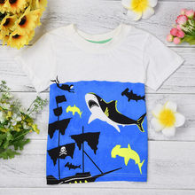 Toddler Kids Baby Boys Girls Clothes Short Sleeve Cartoon Tops T-Shirt Blouse debardeur bebe fille newborn tops birthday t-shirt(China)