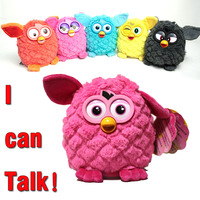 New 2014 Electronic Toys Phoebe 7 Color Electric Pets Owl Elves Plush Toys Recording Talking Toys