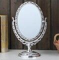 7.8 Pulgadas de Doble cara Espejo de aumento con Luz 1 unids Maquillaje Espejo con Luz de Acero Inoxidable de Soporte de Mesa. herramientas de belleza.