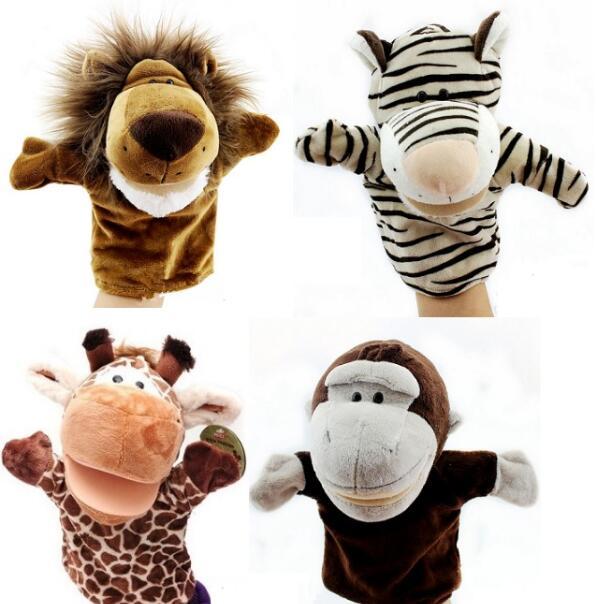 Игрушек! Супер милые плюшевые игрушки хороший лес животное, Лев, тигр Жираф Обезьяна ручной Куклы Дети День рождения Рождественский подарок 4 шт./партия - Цвет: A lot