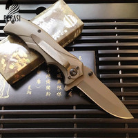 Multi Function Hunting Knife Folding Blade Knife Survival Steel Maple Handle Stainless Steel Blade Outdoor Survival