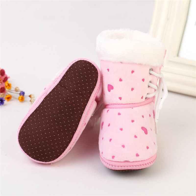 Bebek Ayakkabıları Moda Kış sıcak Kar Botları Kayma dayanıklı Pamuk Toddler Bebek Kız Ayakkabı Yumuşak Taban Ilk Yürüteç