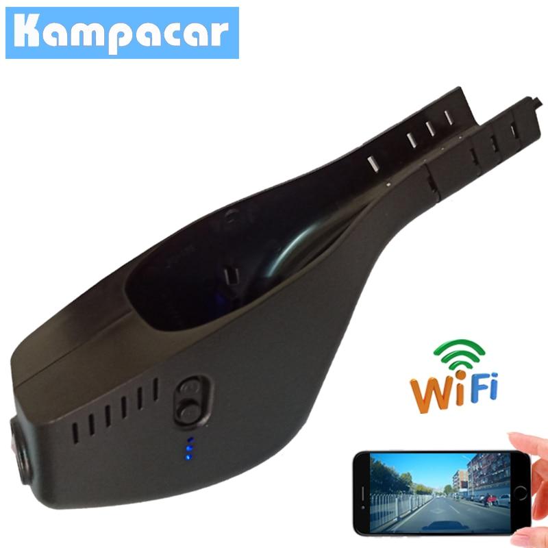 Kampacar voiture Wifi DVR Dash caméra enregistreur vidéo caméra pour Skoda Octavia A7 FL Kodiak A5 2015 2016 2017 2018 2019 Dvrs