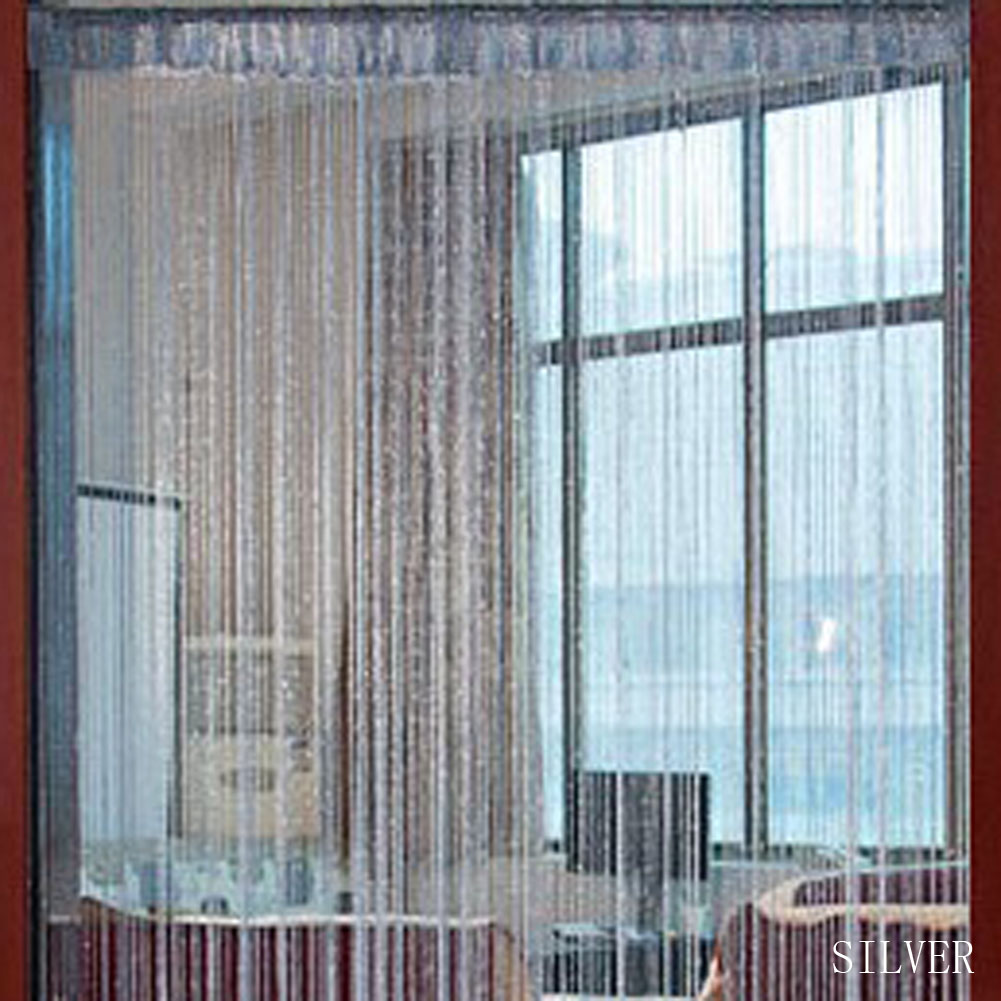 1 pc Decorative Line Curtains String Curtains Silver Thread Window Room Partition Curtain