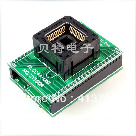 Ucos PLCC44 to DIP44 adapter block conversion ZY100A testing, burn original plcc44 to dip40 block adapter block cnv plcc mpu51 test convert burn