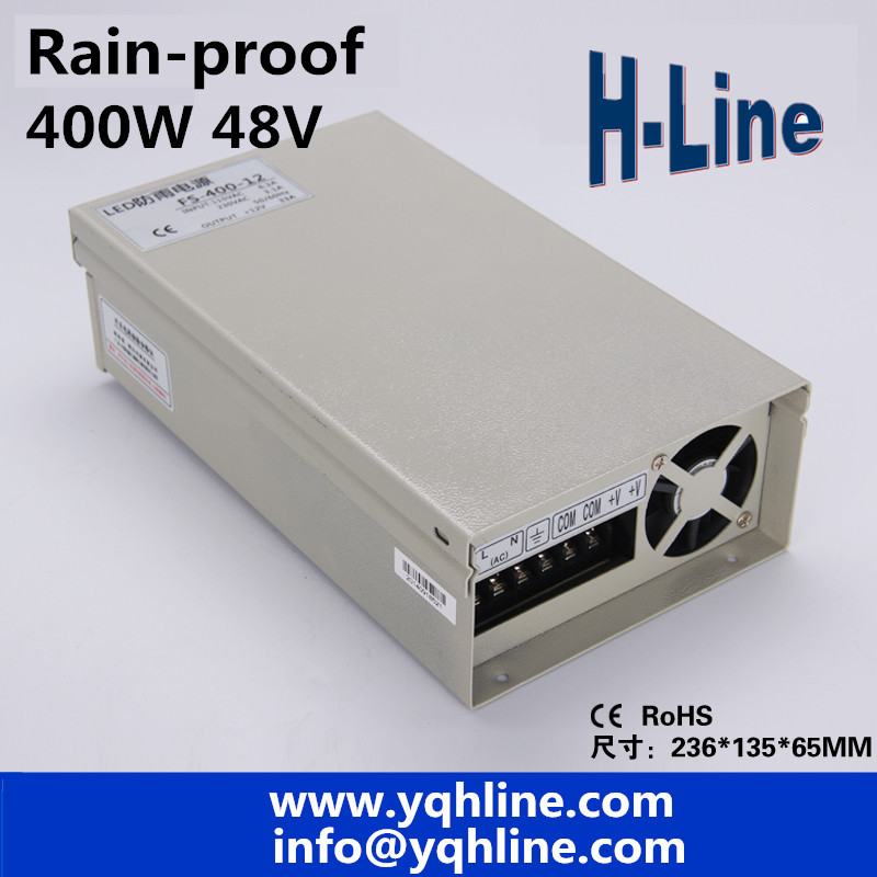 FY-400-48 monitor power LED Rainproof switching power supply transformer 220v 48v power 400W 48V 8.3AFY-400-48 monitor power LED Rainproof switching power supply transformer 220v 48v power 400W 48V 8.3A