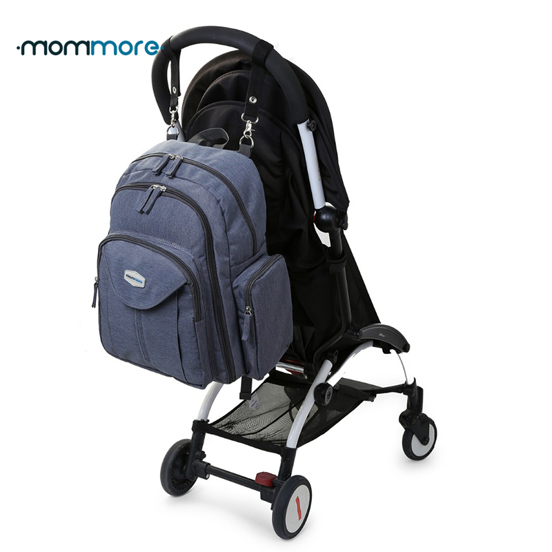 ФОТО mommore Full Open Nappy Bag with Changing Pad Baby Diaper Backpacks Mummy Diaper Bags Multifunctional Picnic Cloth Backpacks