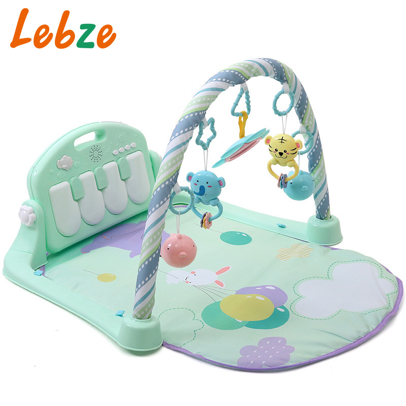 Baby Developing Mat 3 in 1 Multifunctional Piano Toy Musical Crawling Pad Carpet For Children Educational Racks Toy With Rattles цена