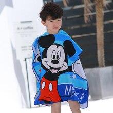 Disney  Mickey Frozen Elsa Anna Cars Sofia Hooded towel bathrobe cartoon children soft can wear beach gift for boys girls
