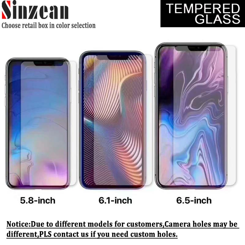 Sinzean 100pcs For New iphone XS XR XS MAX 5 8inch 6 1inch 6 5inch Tempered