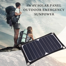 MVpower 5W 6V USB Solar Panel External Battery Charger Portable Universal Power Bank Camping Portable