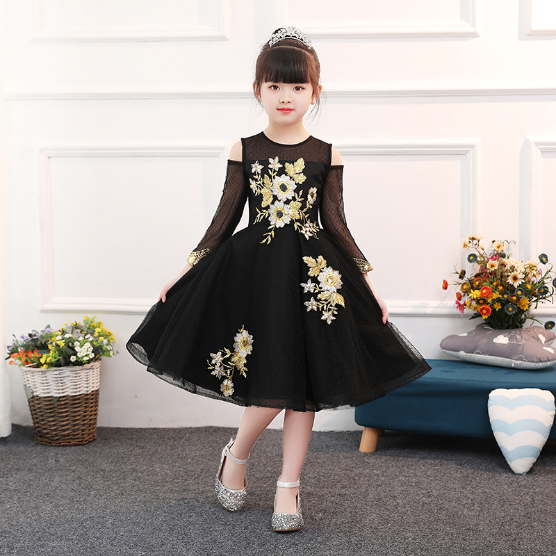 Girl Floral Ball Gown Kids Pageant Dress  Costume Girls Formal Dress Prom Dress