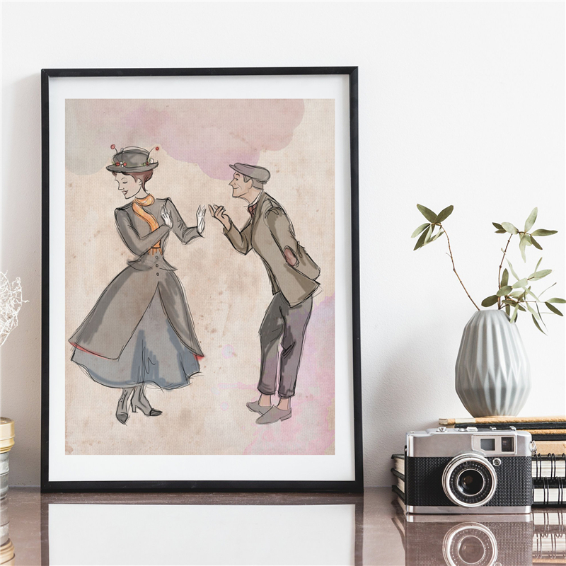 Mary Joy Fills The World Wall Art Canvas Poster Prints Canvas Painting Decorative Picture For Living Room Home Decor Accessories in Painting Calligraphy from Home Garden