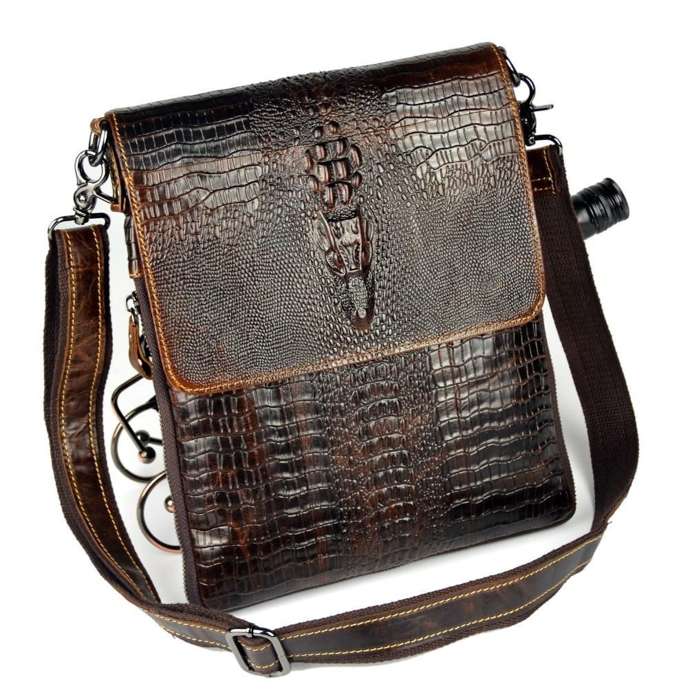Äkta läderväska för män Crocodile Alligator Mäns Business - Handväskor - Foto 6