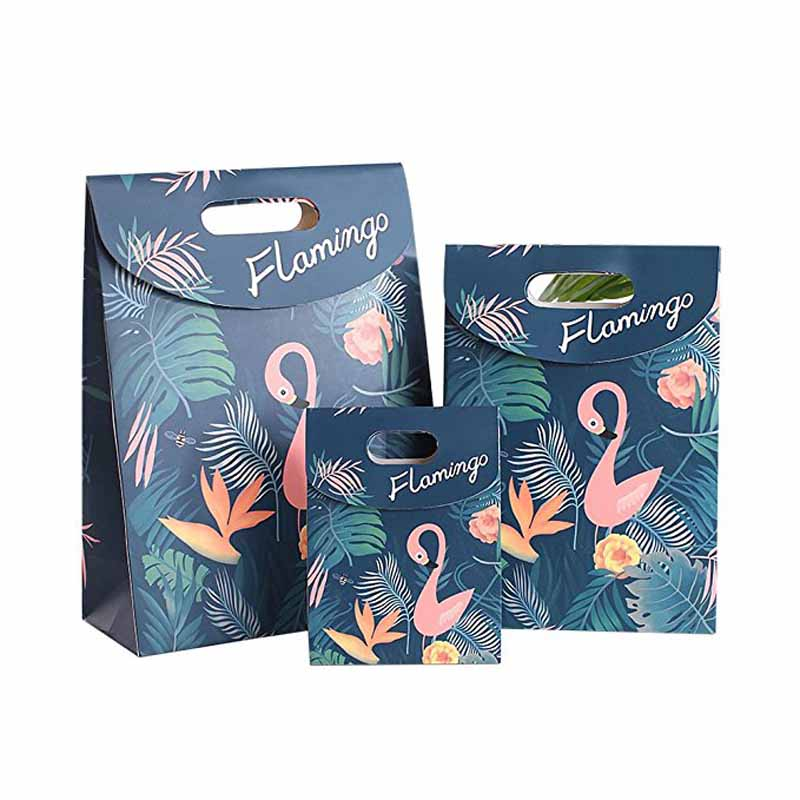 Flamingo paper Cookies chocolate Candy box Gift Bag outdoor Wedding birthday bridal baby shower Gender Reveal Decoration package 1