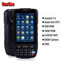Caribe КПК сканер штрих кода 1D 2D Bluetooth Android pos терминала КПК Беспроводной мобильный 1D сканер штрих кода сканер, регистратор данных