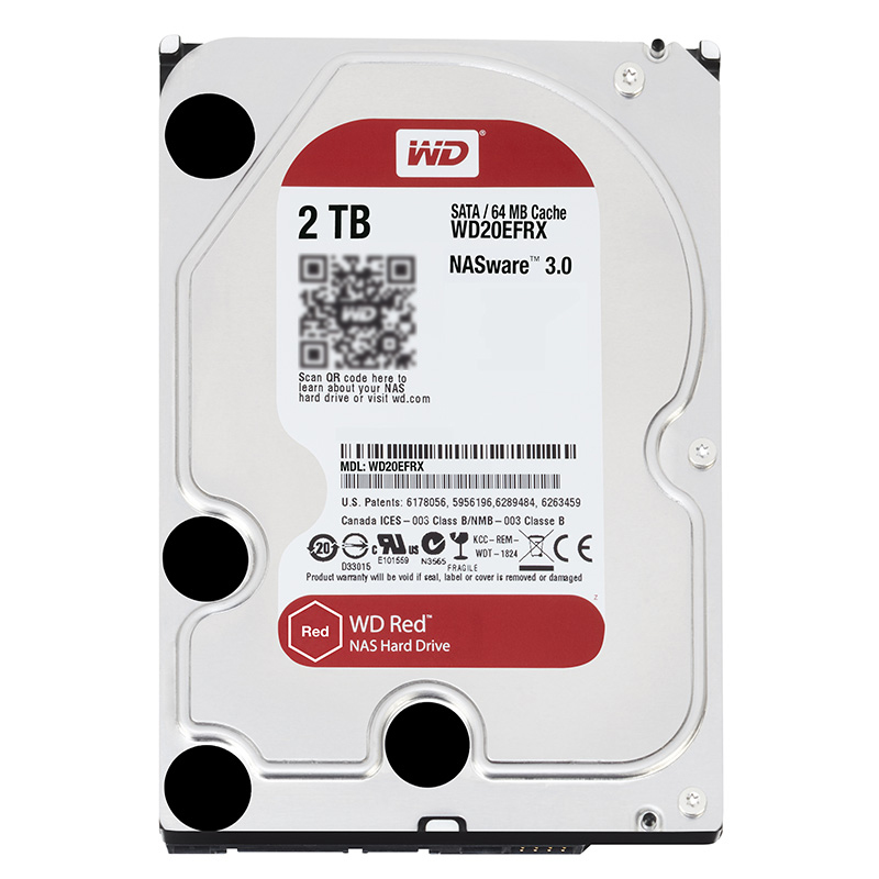 WD Red 2TB Network Storage 3.5 '' NAS Hard Disk Red Disk 2TB 5400 RPM 64M Cache SATA3 6Gb/s HDD WD20EFRX все цены