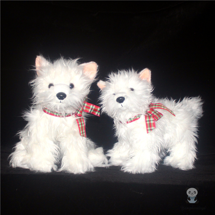 Plush West Highland White Terrier Doll Toys Simulation Dogs  Animals Toy Cut Women Birthday Gift highland sinner