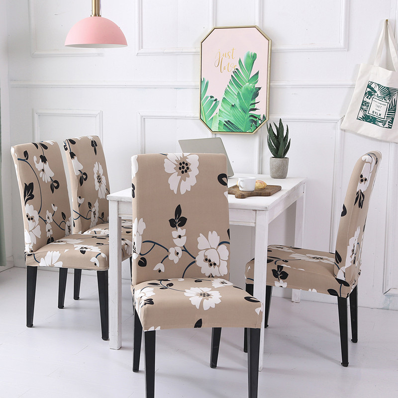 4pcs Modern Floral Pattern Spandex Elastic Chair Covers Dining Room Seat Protective Slipcover Case Removable Stretch Chair Cover Buy At The Price Of 15 69 In Aliexpress Com Imall Com