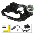 2000 Lumen Zoomable CREE XM-L T6 LED Headlamp Flashlight Torch Bike light lamp 3 Mode +2x 18650 Battery+ Car Charger+ AC Charger