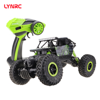 Lynrc RC автомобиль 4WD 2,4 ГГц альпинистский автомобиль 4x4 двойные двигатели Bigfoot автомобиль пульт дистанционного управления модель внедорожный ...