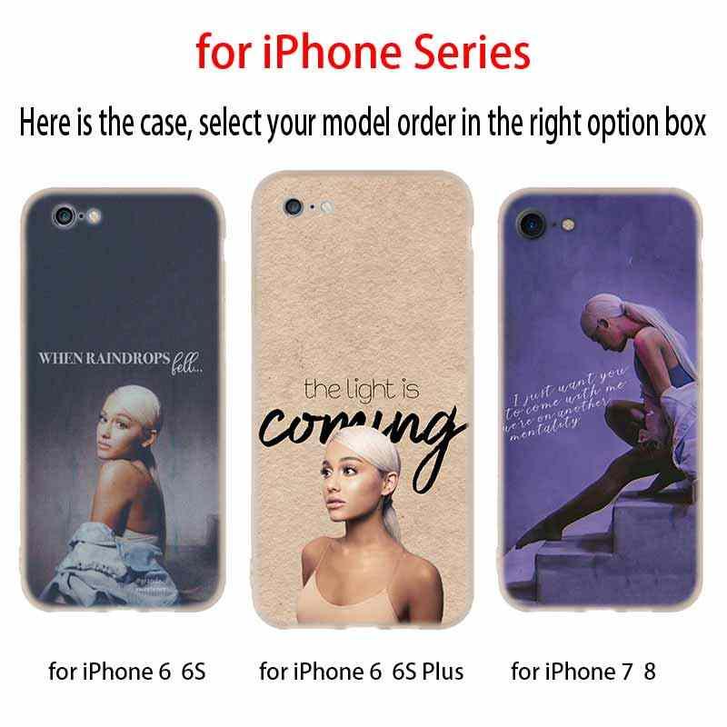 Ariana Grande AG Rainbow สารให้ความหวานฝาครอบซิลิโคนนุ่มสำหรับ iPhone X XS Max XR 6 6 S 7 8 plus 4 5 5S SE 9 โทรศัพท์กรณี