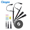 Cleqee High quality P2000 Series DC-60MHz~200MHz Oscilloscope Probe For Tektronix HP X1/X10 P2060 P2100 P2200 BNC Test Lead kit