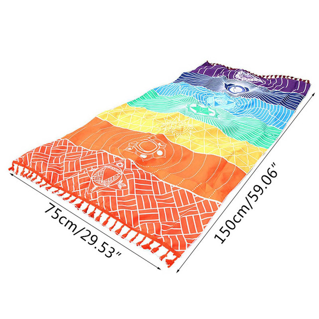 Rainbow Stripes Yoga Blankets Mandala Beach Towel Yoga Mat Bohemia Mandala Blanket