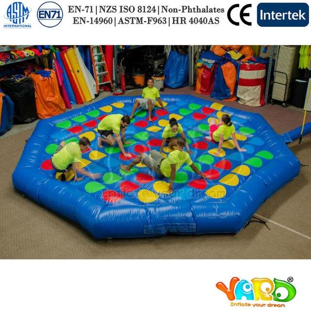 Inflatable Biggors Мульти Человек Игры, Надувные Twister Игры Для Детей И Взрослых