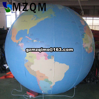 large inflatable earth shape inflatable globe helium balloon/Giant Advertising Earth Helium Balloon for sale