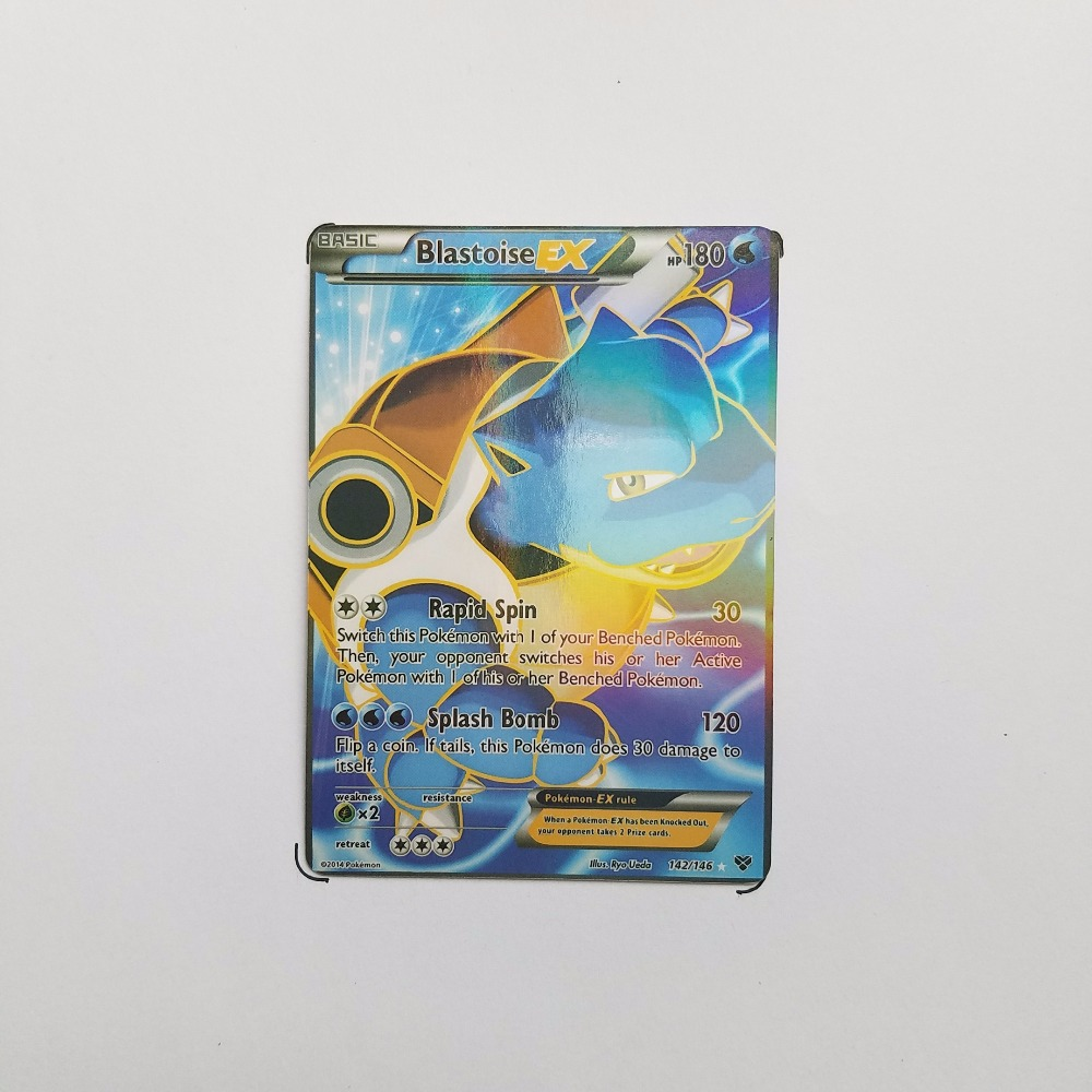 Pokemon Card Single Sale EX Shiny E-40005 BlastoiseEX Card Play Anime Hot Toys Cards Game Trading Collection Children Gift