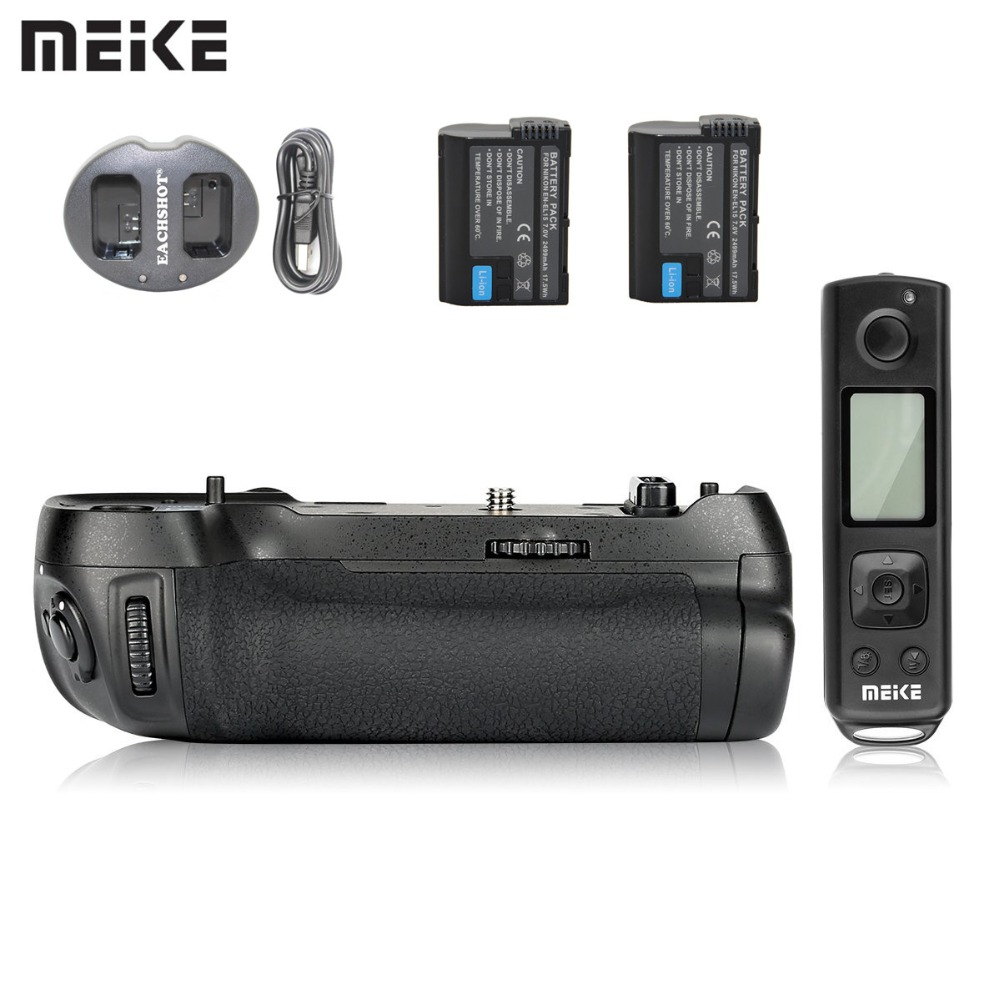 Meike MK-D850 Pro Vertical Shooting Power Pack Battery Grip With 2.4G Hz Wireless Remote For Nikon D850 Camera With Battery
