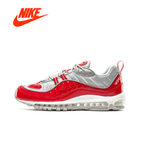 Original New Arrival Official Superme X NIKE Air Max 98 Breathable Men Running Shoes Outdoor Anti slip Sports Sneakers