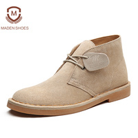 Maden Brand 2017 New Vintage Leisure Men Martin Boots Good Quality Original Desert Boots British Style